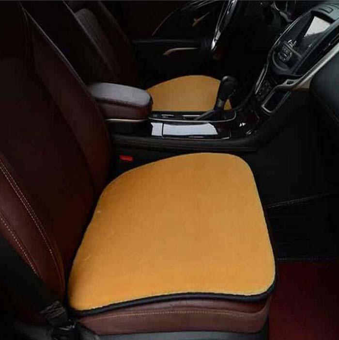 Rete automóvil asiento delantero cubre Universal Fit SUV sedanes silla cojín alfombra antideslizante piel corta Wh