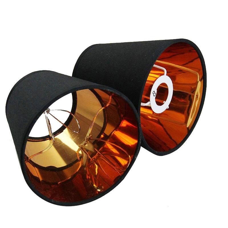 3 قطعة ، 3 اللون ، الموضة الحديثة الذهب الأسود اللون ، كريم والأبيض اللون القماش غطاء مصباح يغطي ، أباجورة البلاستيكية ، E14 و كليب على