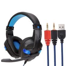 Auriculares Gaming LED de 3,5mm, auriculares con micrófono para PC, portátil, teléfono, deporte, Ecouteur fone de ouvido 18Nov2