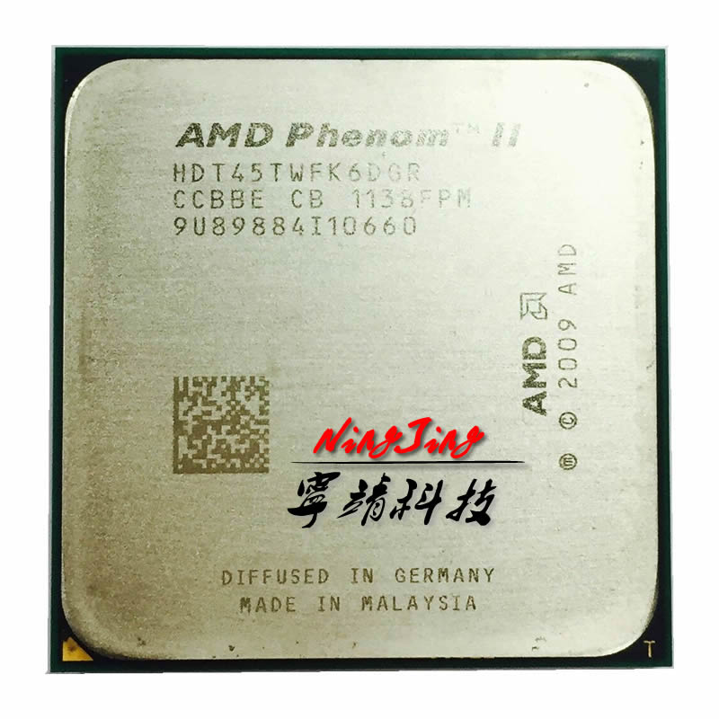 AMD Phenom II X6 1045T 1045 de 2,7 GHz six-core procesador de CPU HDT45TWFK6DGR hembra AM3