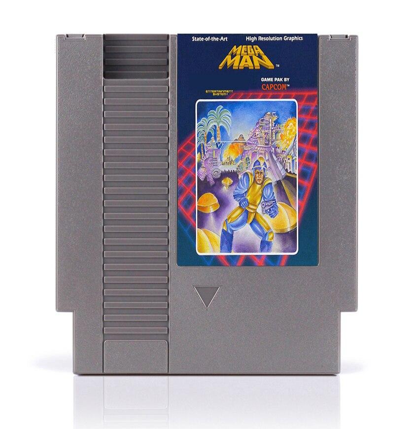 Tarjeta de juego de 8 bits Mega Man para reproductor de juego de 72 pines