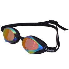 Agnite Arena lunettes de natation an-fog UV lunettes de natation hommes femmes enduit imperméable lunettes de natation