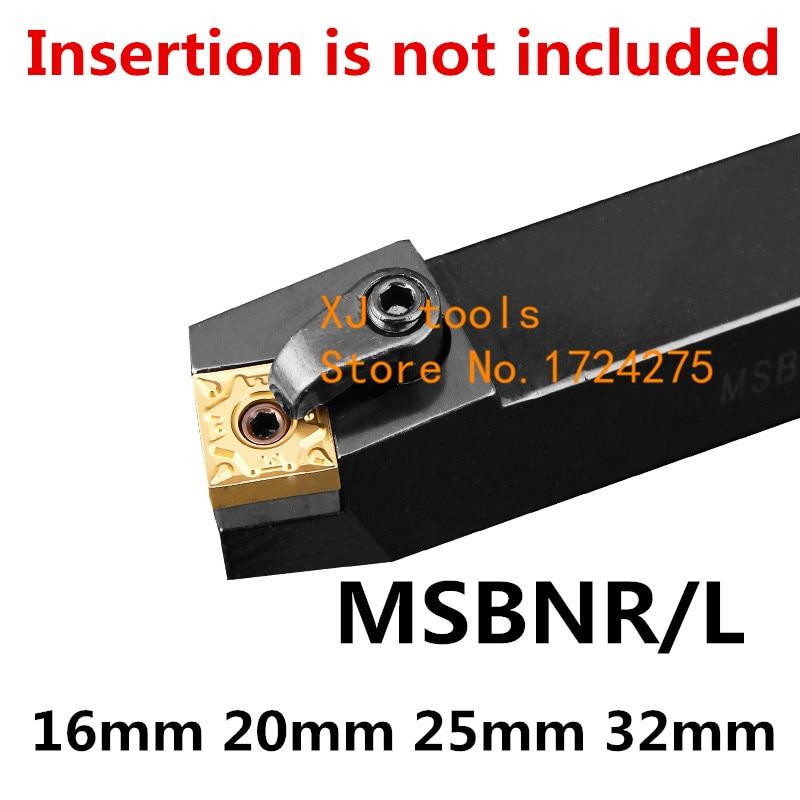 1 piezas MSBNR1616H12 MSBNR2020K12 MSBNR2525M12 MSBNR3232P12 MSBNL2020K12 MSBNL Torno CNC herramientas de corte de herramienta de torneado exterior titular