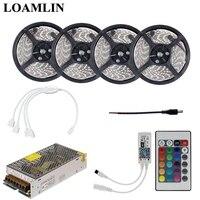 RGB Led Flexible Strip Light SMD2835/3528 With 24Keys IR Remote Wifi Led Controller Power Supply Driver Kit 5M 10M 15M 20M