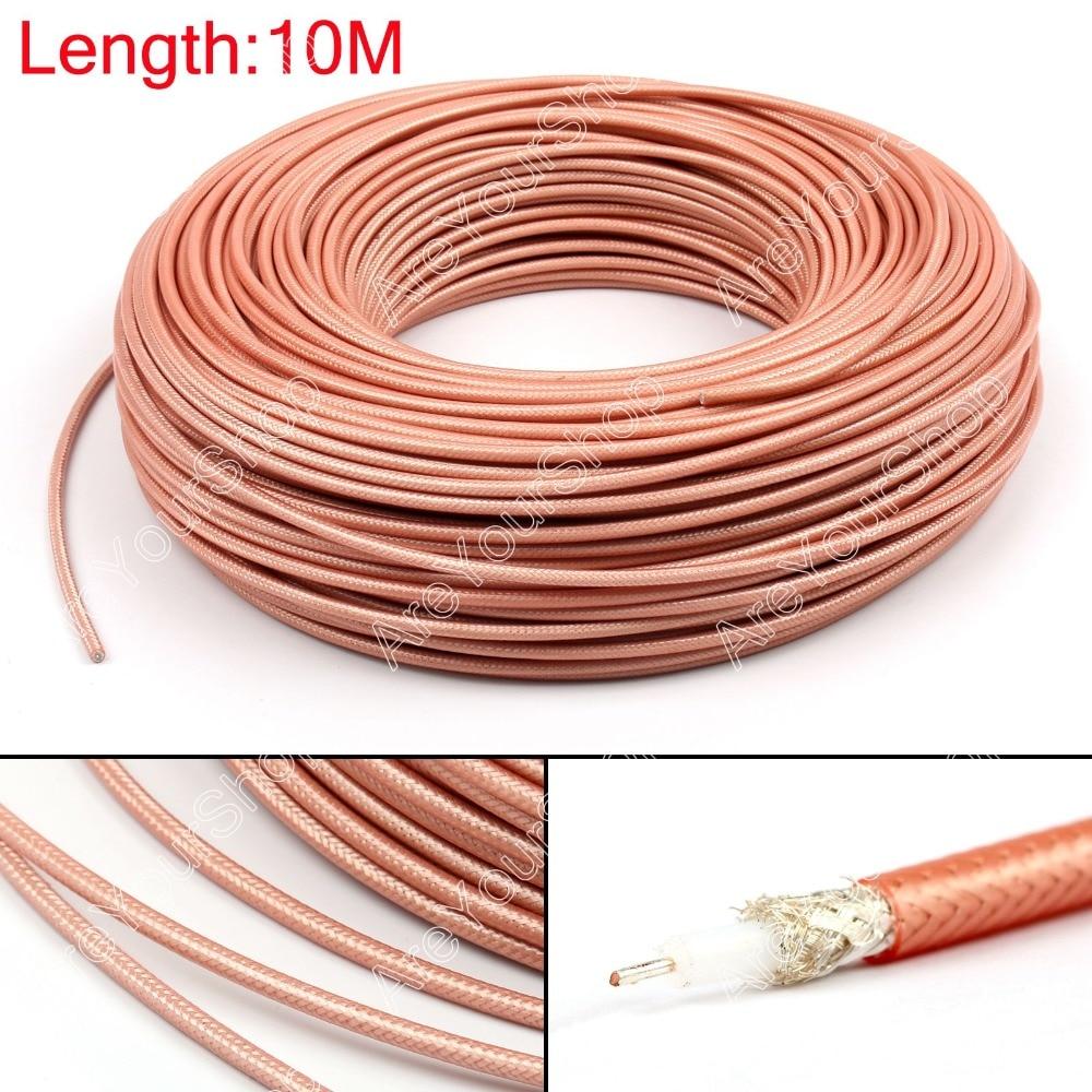 Areyourshop venta 1000cm RG142 Cable Coaxial RF conector 50ohm M17/60 RG-142 Coaxial flexible 32ft macho