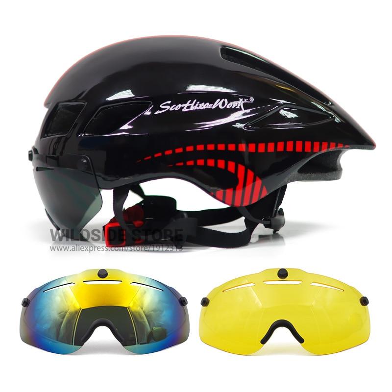 Bicicleta nueva Casco con gafas 4 colores ultraligero MTB Casco de Bicicleta...