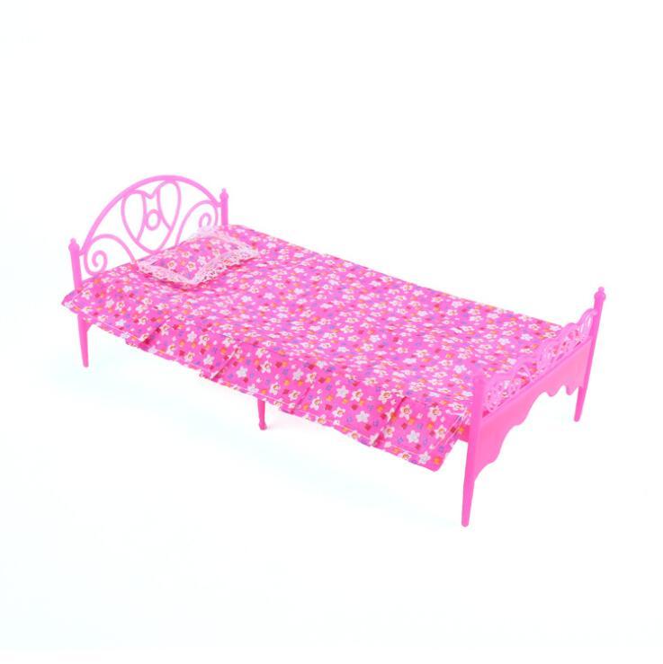 Casa para accesorios de la muñeca Barbie sofá cama perchas vestidor juego de simulación casa muebles Mini cama sala de estar para chico Niño