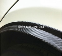 2PCs 150cm universal carbon fiber car fender flare wheel eyebrow protector wheel Arch trim strip fit for Subaru Forester XT US-V