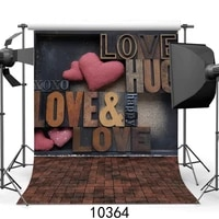 love letter wall retro photo background vinyl customized photographic backdrops for photo studio lovers children baby photocall