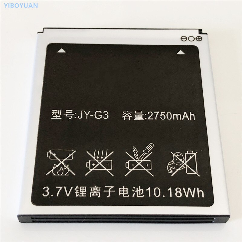 3,7 V 2750 mAh JY-G3 para Jiayu G3/G3T/G3S/G3C batería