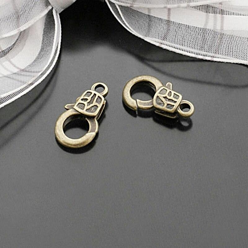 (27664)20 Uds 17x9MM antiguo Bronce Aleación de Zinc cierres de langosta Cierre de conexión cierres de collar Diy accesorios de joyería