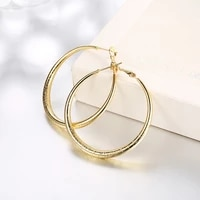 circle hoop earrings yellow gold filled vintage style classic womens earrings gift