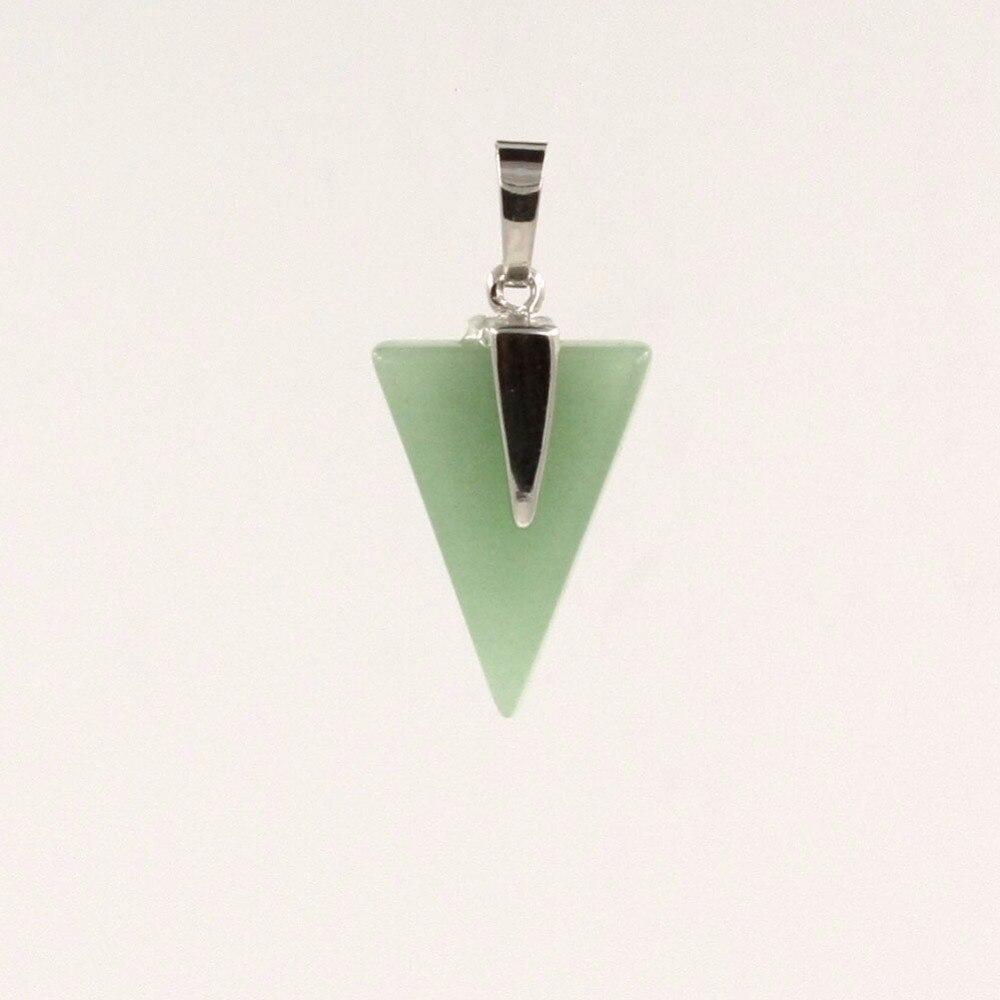 12pcs/lot Roses Quartz Random Mixed Color Geometrical Triangle Pendants Jewellery for Women Vintage Accessories Free Shipping
