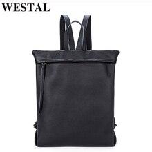 WESTAL Kadınlar kızlar için sırt çantaları gençler için Okul Çantaları Hakiki Deri Sırt Çantası Kadın sırt çantası Laptop Sırt Çantası kadın deri