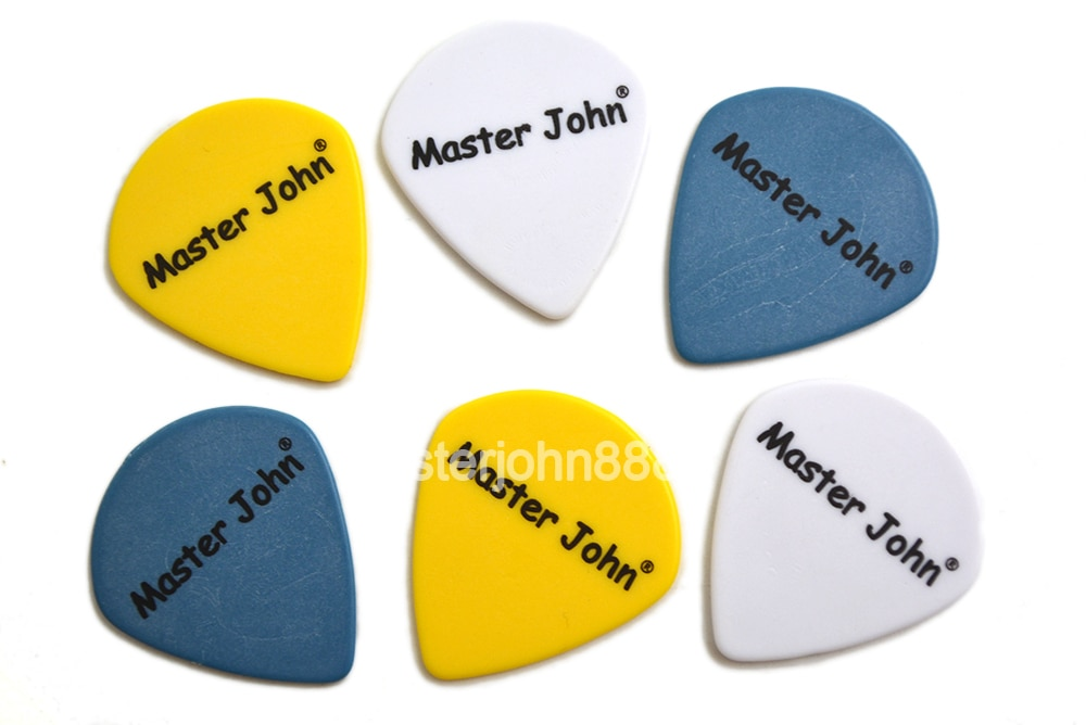 Lots of 100pcs Master John Colorful POM Delrin Jazz Shape Speed Picks Electric/Acoustic Guitar Picks 3 Thickness Assorted enlarge