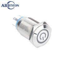 TY 1639F interrupteur led à tête ronde plate   Interrupteur led avec symbole dalimentation, 20mm