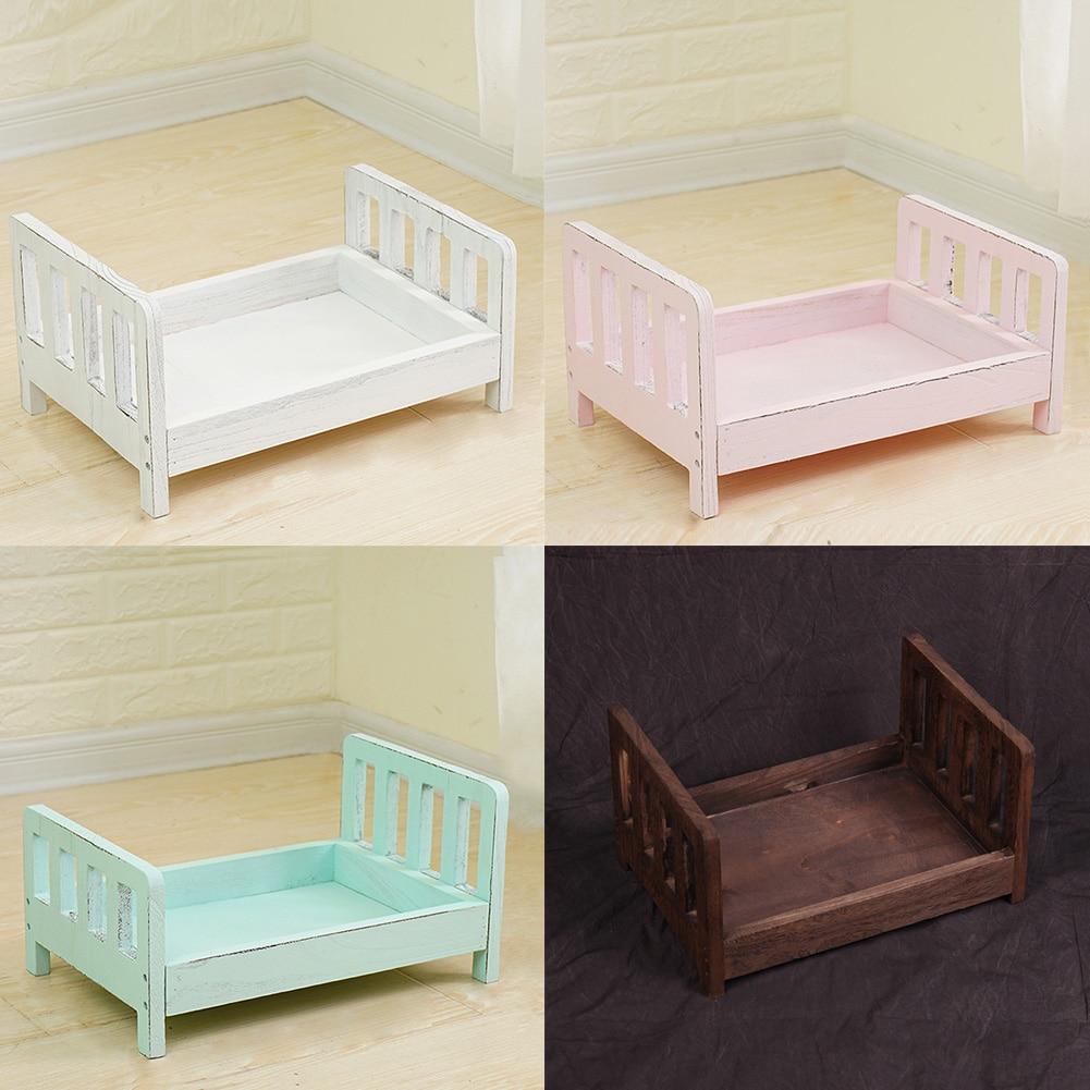 Съемная корзинка для детской кроватки, деревянная кровать, аксессуары для фотосессии, фон для детской фотосъемки, студийный реквизит, подар...