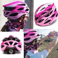 KINGBIKE Cycling Pink Helmet with back light Bike Ultralight Women helmet Intergrally-molded Mountain Road Bicycle MTB Helmets