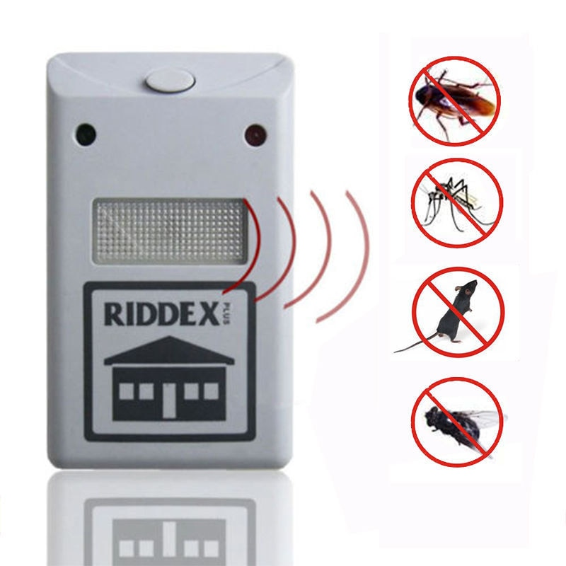 EU plug 1pcs Home Electro Magnetic Ultrasonic Riddex Electronic Pest Rodent Repeller Mouse Mosquito