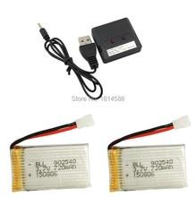 Syma X5C X5SC X5SW X5C-1 V931 H5C CX-30 CX-30W SS40 FQ36 T32 T5W H42 3.7V 720mAh batterie au lithium paquet 2 + 1 2 charge déquilibre