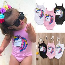 Nouveau-né enfants bébé fille maillot de bain Bikini maillot de bain sans manches dessin animé mignon maillot de bain maillots de bain filles 0-3T