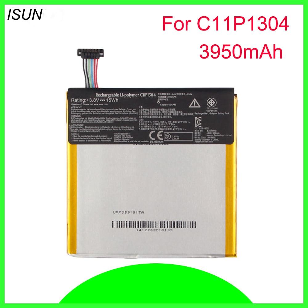 ISUNOO 5 pçs/lote 15Wh C11P1304 Li-polímero bateria para Asus Pad Memo Hd 7 Me173x K00b 3950 mAh da bateria substituição