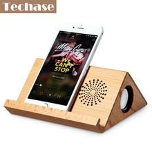 Techase Tragbare Bluetooth Lautsprecher Pad Stand Caixa De Som Soundbar Drahtlose Lautsprecher Telefon Halten TF Karte Alto Falante MP3 Player