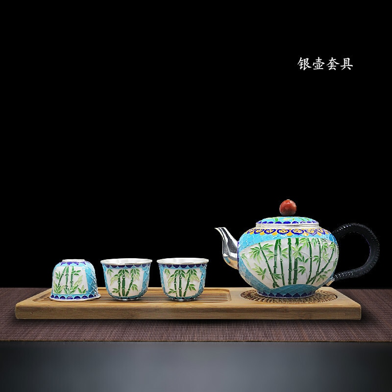 high-grade-999silver-products-cloisonne-hand-made-tasting-cup-kung-fu-teacup-gift-for-family-and-friends-kitchen-office-tea-set