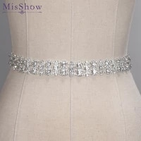 crystal wedding belts real samples hand made satin rhinestones bridal ribbons sashes wedding accessories cummerbunds waistband
