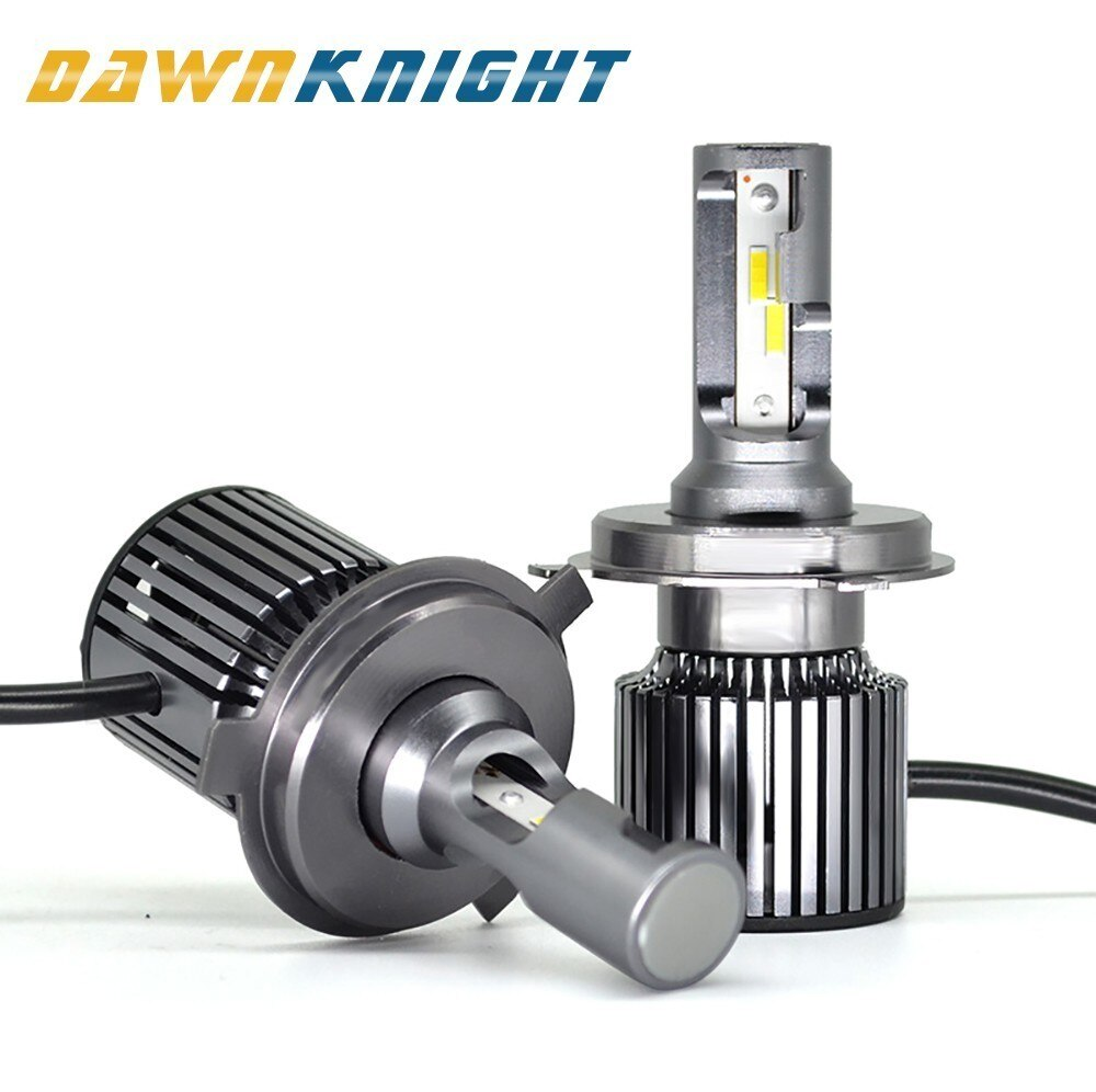 2 uds F4 H4 bombilla Led 9004/HB1 9007/HB5 9008/H13 H7 D2S(R/C) CSP CHIP Turbo Led Luz de niebla 7000LM 6000K tamaño Mini