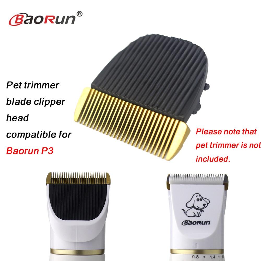 Profesional Original mascota perro gato caballo cortapelos cabeza cerámica acicalamiento recortador hoja Compatible para Baorun P3 1 unids/pack