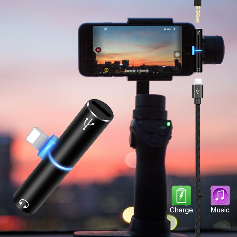 Adaptador de Cable de Audio para iPhone, Conector de auriculares Lightning de...
