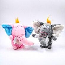 Simulation Plush Pendant Keychain Elephant Plush Toy Trumpet Grabber Doll Pendant Plush Toy