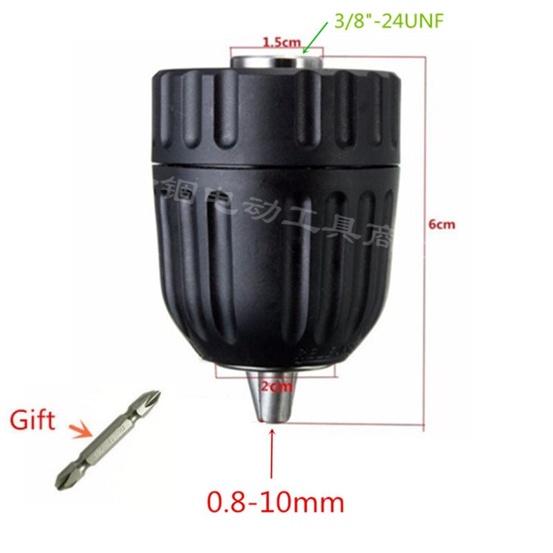 Сверлильный патрон без ключа 1,0-10 мм 3/8-24UNF для дрели BOSCH GBM1 GBM1RE GBM1E GBM450 GBM450RE GBM6 GBM6RE