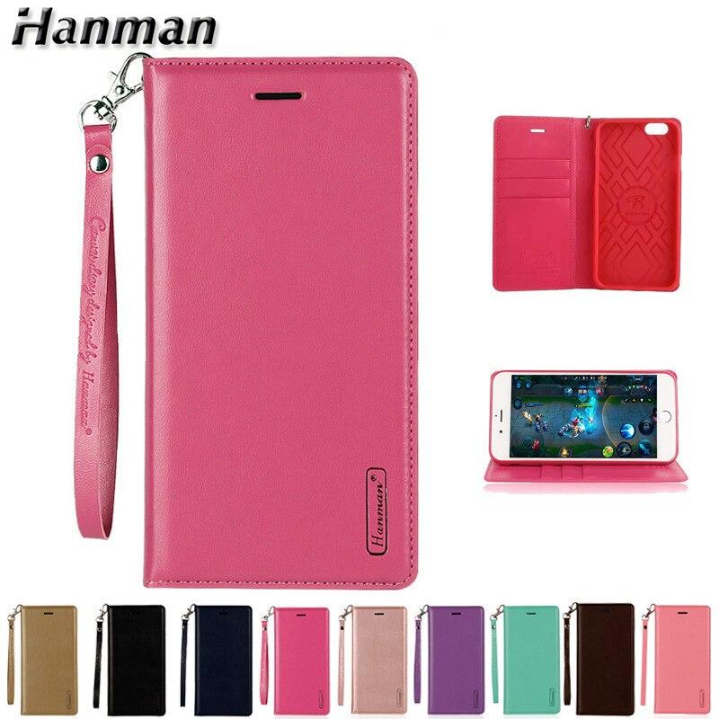 Hanman étui à rabat en cuir pour Apple iPhone 5 5 s SE 6 6 s 7 8 Plus X couverture portefeuille de visite étui de carte support magnétique couverture de téléphone