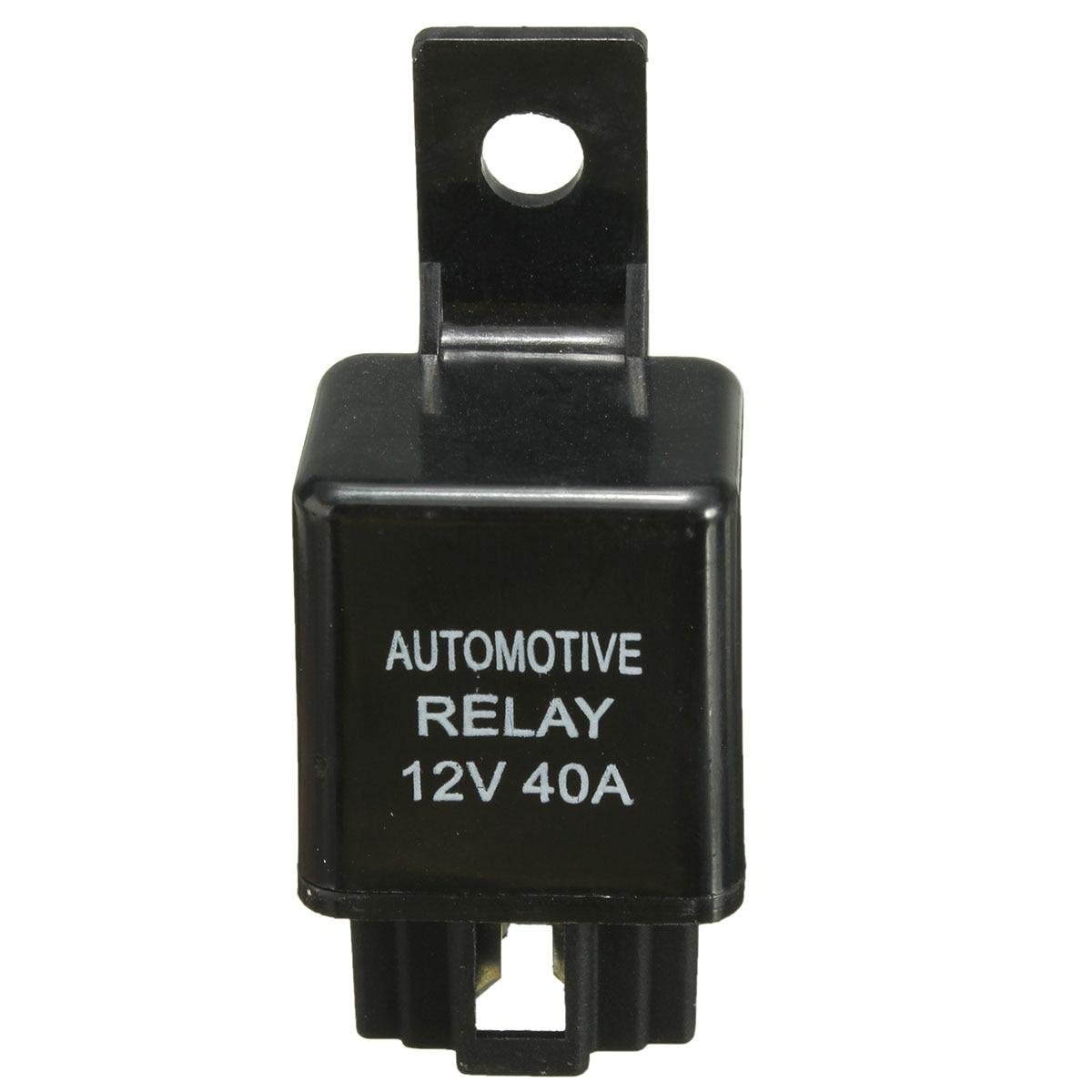 12V 40A 40 AMP Auto Auto Automotive Van Boat Bike 4 Pin SPST Alarm Relais