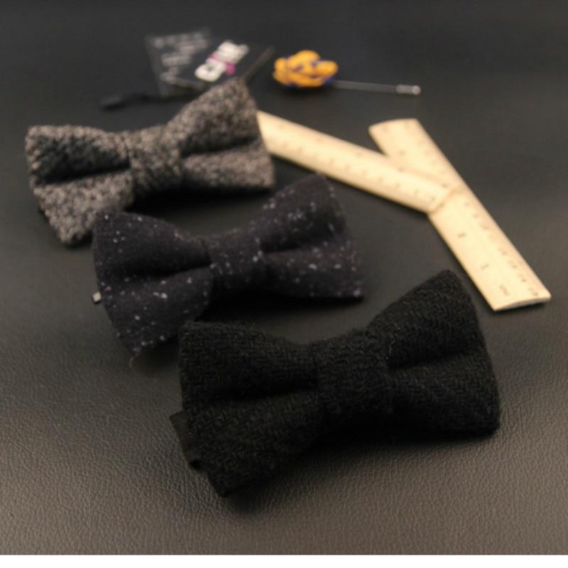 21colors men bow tie British style wedding groom korean fashion designer wool bowtie business solid 5pcs/lot