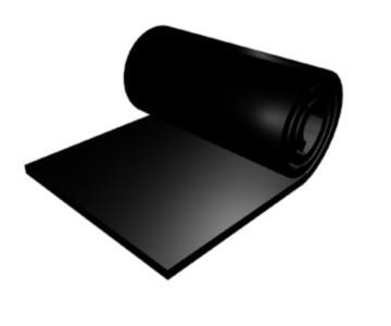 Lámina de losa de goma conductora hecha a medida electricidad estática 2mm x 50cm x 100cm alrededor de 10000 ohm negro