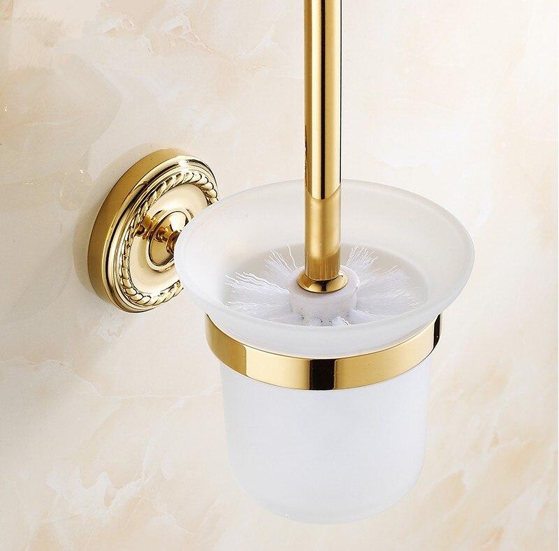 الأوروبية الفاخرة الذهبي مطلي إنهاء اكسسوارات الحمام ، الأزياء DesignToilet فرشاة حامل و WC فرشاة مجموعة/منتجات البناء