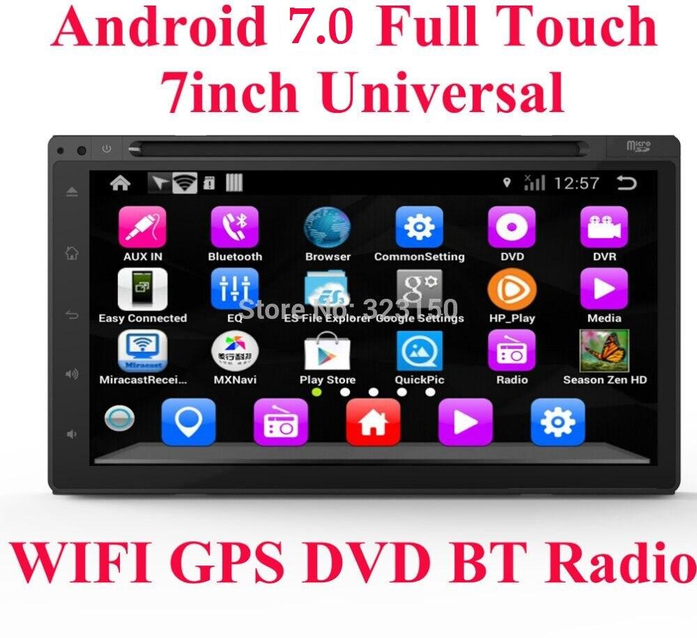 Автомобильный dvd-плеер на основе Android, универсальный, двойной, 2 din, 7 дюймов, GPS, стерео, Wi-Fi, bluetooth