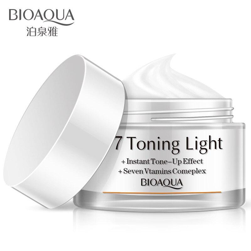 Crema blanqueadora de vitaminas de marca bioaqua V7, crema hidratante para el cuidado facial