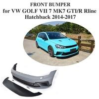 PU Unpainted Auto Car Front Bumper Body kits for VW GOLF VII 7 MK7 GTI R Rline Hatchback 2014 - 2017 Car Accessories