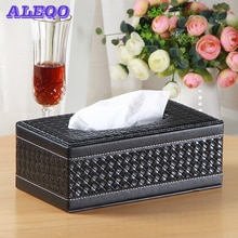 Caixa de tecido de couro retângulo quadrado armazenamento organizador de mesa guardanapo de papel toalha titular dispenser capa casos