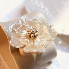Rinhoo camélia fleur broche broches plante broches pour les femmes shabiller décoration mode beau bijoux fille moderne cadeau