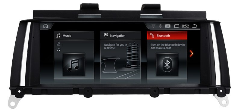 "2G RAM 8,8 ""Android 7,1 DVD del coche para BMW X3 F25 CIC sistema 2011-2013 con Bluetooth 32 GB Nand Flash 3G Wifi enlace espejo mapa GPS"