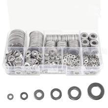 Kit de rondelles plates en acier inoxydable   M2 M2.5 M3 M4 M5 M6 M8 M10 M12, 580 pièces avec boîte