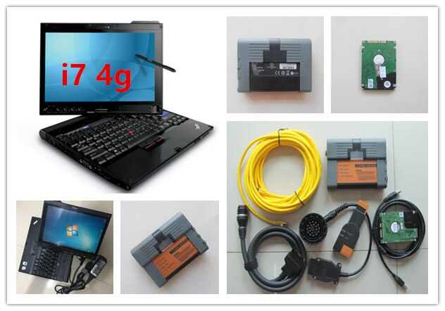 Lo mejor para bmw icom a2 herramienta de programador de diagnóstico con software modo experto 500gb hdd con laptop x201t ram 4g cpu i7 windows 7