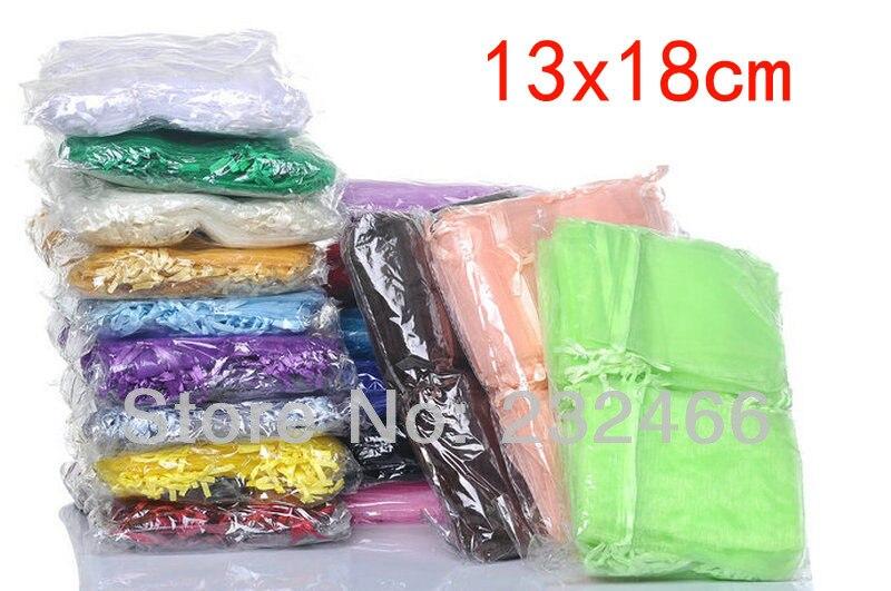 Atacado Sacos de Organza 13x18cm,Drawable Presente de Casamento Bags & Pouches,300 pçs/lote