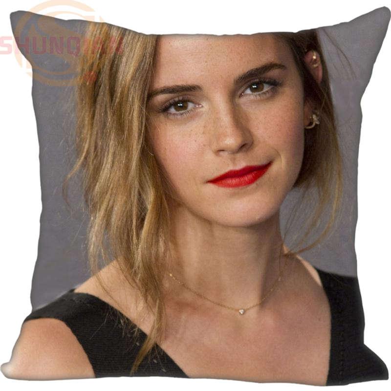 New Emma Watson Kissenbezug Hochzeit Dekorative Kissenbezug Anpassen Geschenk Für Kissenbezug 35X35 cm, 40X40 cm (Eine Seite)