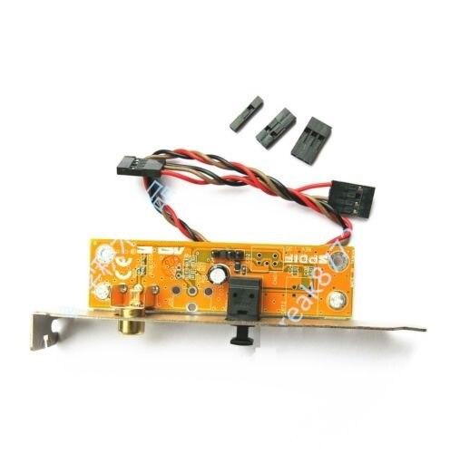 SPDIF оптический и RCA выход пластина кабель Кронштейн для ASUS Gigabyte Материнская плата MSI